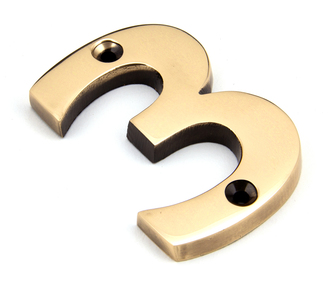 View Polished Bronze Numeral 3 offered by HiF Kitchens