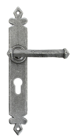 View Pewter Tudor Lever Euro Lock Set offered by HiF Kitchens