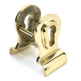 View Polished Brass 50mm Euro Door Pull (Back to Back fixings) offered by HiF Kitchens