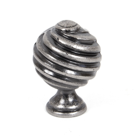 Added From The Anvil Pewter Twist Cabinet Knob 33691 To Basket