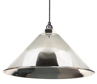 Added From The Anvil Hammered Nickel Hockley Pendant 45433 To Basket