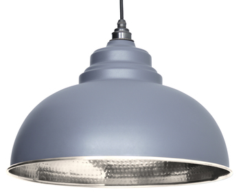 View From The Anvil Dark Grey Hammered Nickel Harborne Pendant 45472DG offered by HiF Kitchens