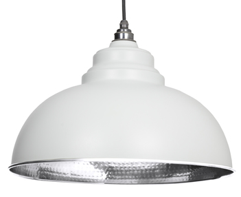 View From The Anvil Light Grey Hammered Nickel Harborne Pendant 45472LG offered by HiF Kitchens