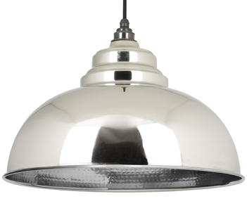 View From The Anvil Hammered Nickel Harborne Pendant 45472 offered by HiF Kitchens