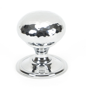 View From The Anvil Polished Chrome Hammered Mushroom Cabinet Knob 38mm 46028 offered by HiF Kitchens