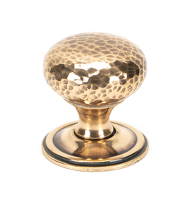 View From The Anvil Polished Bronze Hammered Mushroom Cabinet Knob 38mm 46030 offered by HiF Kitchens