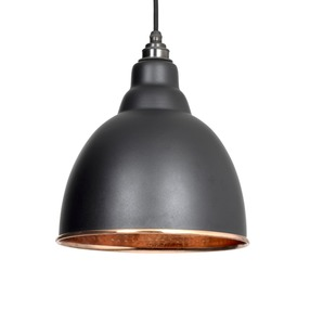View From The Anvil Black Hammered Copper Brindley Pendant 49500B offered by HiF Kitchens