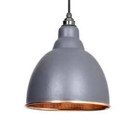 View From The Anvil Dark Grey Hammered Copper Brindley Pendant 49500DG offered by HiF Kitchens