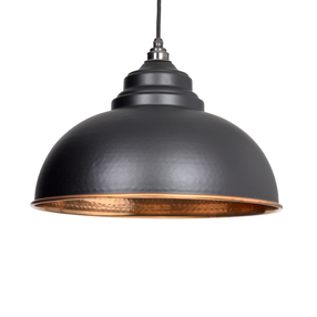 Added From The Anvil Black Hammered Copper Harborne Pendant 49501B To Basket