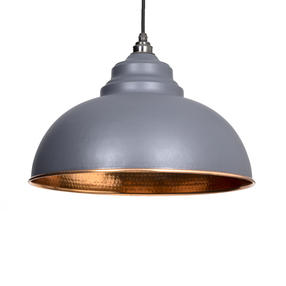 View From The Anvil Dark Grey Hammered Copper Harborne Pendant 49501DG offered by HiF Kitchens