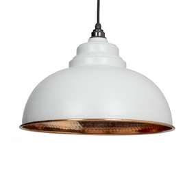 View From the Anvil Light Grey Hammered Copper Harborne Pendant 49501LG offered by HiF Kitchens