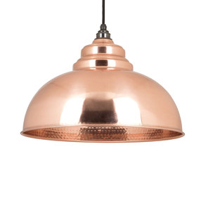 View From The Anvil Hammered Copper Harborne Pendant 49501 offered by HiF Kitchens