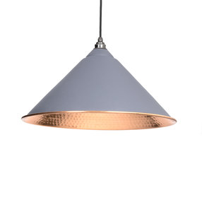 Added From The Anvil Dark Grey Hammered Copper Hockley Pendant 49503DG To Basket