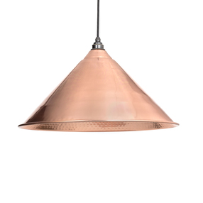 Added From The Anvil Hammered Copper Hockley Pendant 49503 To Basket
