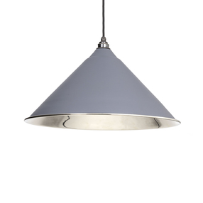 View From The Anvil Dark Grey Smooth Nickel Hockley Pendant 49506DG offered by HiF Kitchens