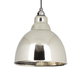 View From The Anvil Hammered Nickel Brindley Pendant 49511 offered by HiF Kitchens