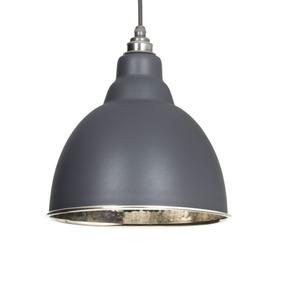 Added From The Anvil Dark Grey Hammered Nickel Brindley Pendant 49511DG  To Basket