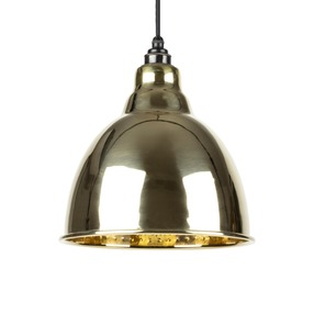 Added From The Anvil Hammered Brass Brindley Pendant 49517 To Basket