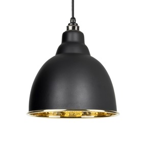 View From The Anvil Black Hammered Brass Brindley Pendant 49517B offered by HiF Kitchens