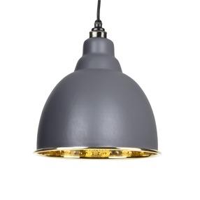 Added From The Anvil Dark Grey Hammered Brass Brindley Pendant 49517DG To Basket