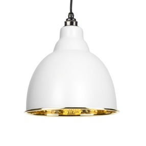 View From The Anvil Light Grey Hammered Brass Brindley Pendant 49517LG offered by HiF Kitchens