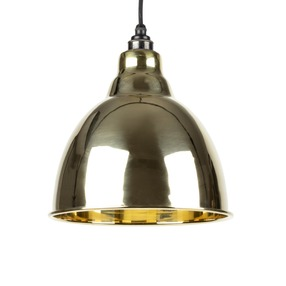 View From The Anvil Smooth Brass Brindley Pendant 49518 offered by HiF Kitchens