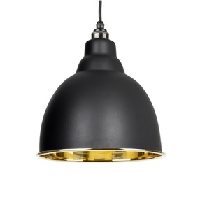 Added From The Anvil Black Smooth Brass Brindley Pendant 49518B To Basket