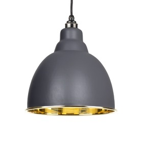 View From The Anvil Dark Grey Smooth Brass Brindley Pendant 49518DG offered by HiF Kitchens
