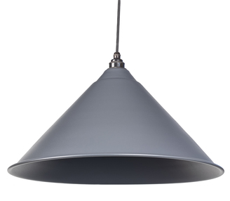 View From The Anvil Dark Grey Full Colour Hockley Pendant 49520DG offered by HiF Kitchens