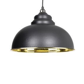 View From The Anvil Black Hammered Brass Harborne Pendant 49521B offered by HiF Kitchens