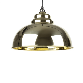 View From The Anvil Hammered Brass Harborne Pendant 49521  offered by HiF Kitchens
