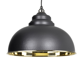 View From The Anvil Black Smooth Brass Harborne Pendant 49522B offered by HiF Kitchens