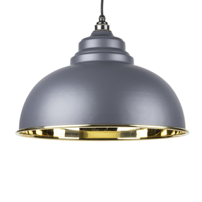 View From The Anvil Dark Grey Smooth Brass Harborne Pendant 49522DG offered by HiF Kitchens