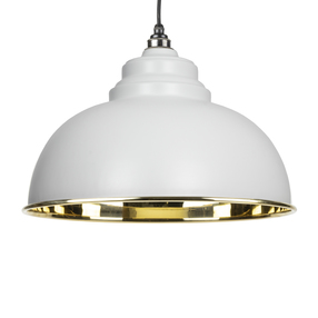 View From The Anvil Light Grey Smooth Brass Harborne Pendant 49522LG offered by HiF Kitchens