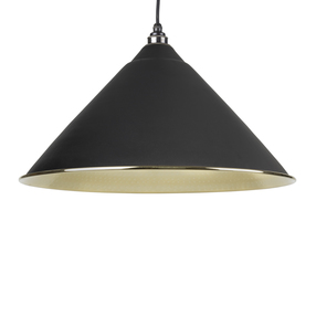 View The Anvil Black Hammered Brass Hockley Pendant 49523B offered by HiF Kitchens