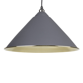View From The Anvil Dark Grey Hammered Brass Hockley Pendant 49523DG offered by HiF Kitchens
