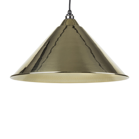 View From The Anvil Hammered Brass Hockley Pendant 49523 offered by HiF Kitchens