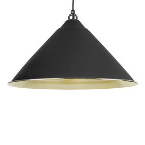 View From The Anvil Black Smooth Brass Hockley Pendant 49524B offered by HiF Kitchens
