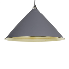 View From The Anvil Dark Grey Smooth Brass Hockley Pendant 49524DG offered by HiF Kitchens