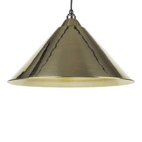 Added From The Anvil Smooth Brass Hockley Pendant 49524 To Basket