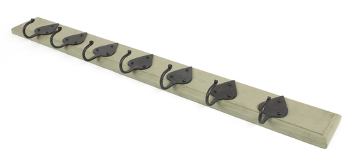 View From The Anvil Olive Green Cottage Coat Rack 83747 offered by HiF Kitchens
