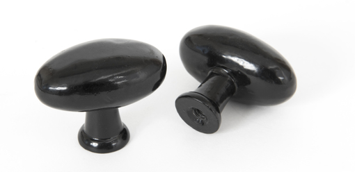 View From The Anvil Black Oval Cabinet Knob 83790 offered by HiF Kitchens