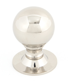 View From The Anvil Polished Nickel Ball Cabinet Knob 39mm 83882 offered by HiF Kitchens