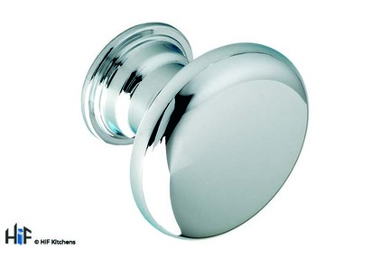 View CF6420 Wath Knob Polished Chrome Central Hole Centre offered by HiF Kitchens