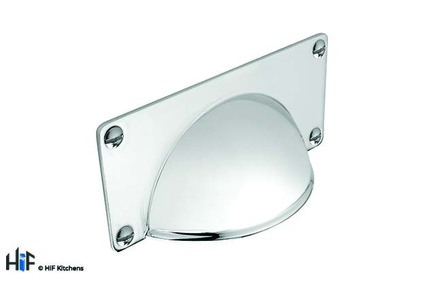 View H1079.32.BN Classic Cup Handle With Backplate Solid Brass Nickel Finish offered by HiF Kitchens