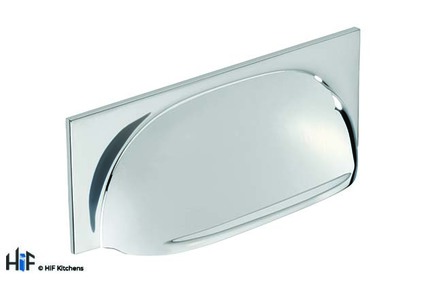 View H1116.96.CH Marton Cup Handle Polished Chrome 96mm Hole Centre offered by HiF Kitchens