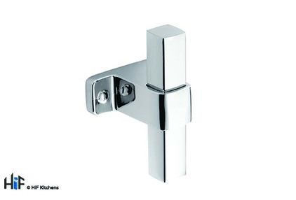 Added H1123.60.CH Dartmouth T-Bar Handle Polished Chrome Central Hole Centre To Basket