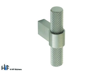 View H1125.35.SS Knurled T-Bar 60mm Stainless Steel offered by HiF Kitchens