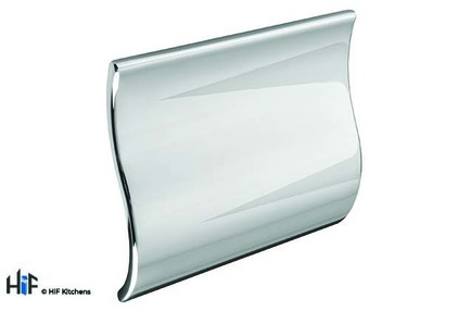 View H755.32.CH Wave Pull Handle 60mm 32mm Hole Centres Chrome offered by HiF Kitchens