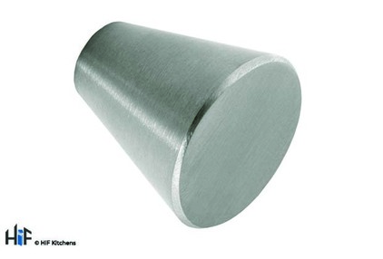 View K068.25.SS Bay Knob Angled Sides 25mm Brushed Stainless Steel offered by HiF Kitchens